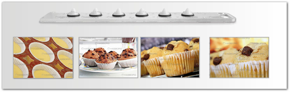 Slat for muffins